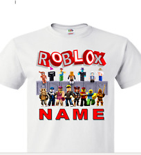 Roblox T Shirts Tops For Boys 2 16 Years For Sale Ebay - roblox children s t shirt personalised girl s boy s roblox gamer