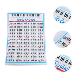 Klavier-Grifftabelle Klavier-Akkord-Übungskarte für Anfänger Anfänger Klavierlie
