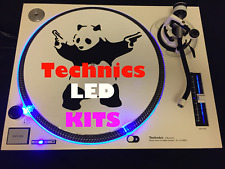 Technics 1200 1210 Super Bright, Electric Blue LED Upgrade Kits. 2 Decks