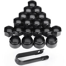 Set of 20 17mm BLACK WHEEL NUT BOLT COVERS CAPS FOR ANY CAR LOCKING