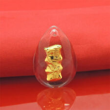 Hot Sale 24K Yellow Gold &Crystal Pendant Man Woman's Elegant Bamboo Lucky Gift