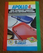 1980s APOLLO 4 POP UP SILVER KNIGHT SUNROOF BROCHURE RETRO SIERRA CAPRI ETC