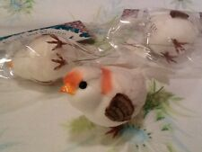 "NEW! LOT OF 3! ARTIFICIAL BIRDS FOR CRAFTS FLORAL WREATHS ETC, 3 "" X 2 """