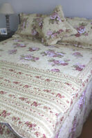 Vanessa Queen Bedspread by Linen 'n' Things Floral Patchwork | shabby chic style