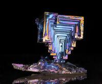 Bizmuth Bi ---- ---- ---- --- ---- natural reinbow - crystal - metal - specimen