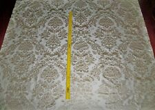 SILK LOOM FORTUNY STYLE VENETIAN PRINTED SILK FABRIC 10 YARDS CREAM BEIGE