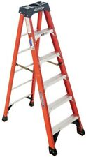 Werner 6 ft Fiberglass Step Ladder 300 lb Load Non-Conductive Type IA Duty Rated