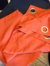"""CROSCILL HOME Orange Woven Fabric 50""""X 84"""" Drapery Panel"""