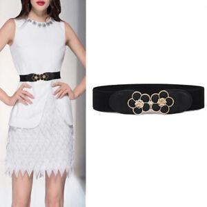 Women Elastic Wasit Belt Waistband Wide Elegant Belt Cummerbunds For Women D_3C