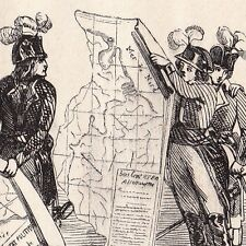 Caricature XIXe Napoléon Bonaparte Traité de Campo Formio Révolution Française