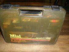 "Vtg Mini Lite 3900 Old Pal Woodstream Tackle Box loaded Misc.tackle! Rare! 16"""