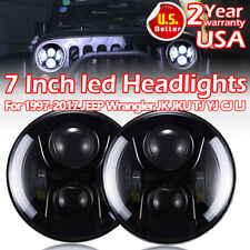 "2x 7"" Halo Angel Eyes CREE LED DRL Headlights 97-17 Jeep Wrangler JK TJ YJ CJ L"