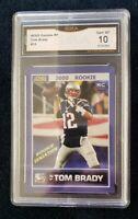 2000 Tom Brady ACEO custom Rookie Rare GMA Gem Mint 10  RARE