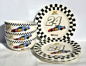 Jeff Gordon Nascar Collectible 24 Car Dupont Porcelain Dish Set Collection Lot