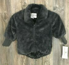 American Widgeon Girl's Jacket Faux Fur Full Zip Grey Size 4