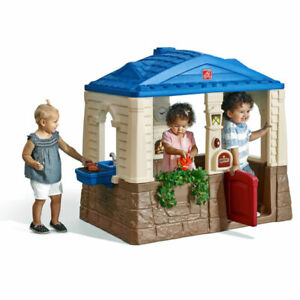 Step2 Neat Tidy Cottage Playhouse Kids Outdoor Play House Backyard Toy Children