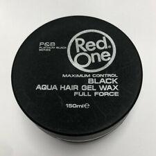 Red One Maximum Control Black Aqua Hair Gel Wax Full Force
