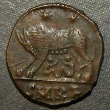New ListingRoman Coin Ancient 300 Ad Bronze Caesar Emperor Antique Wolf Infants Suckling