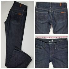 """7 For All Mankind Women's """"A"""" Pocket Bootcut Bling Jeans Size 24 (26 x 32) EUC"""