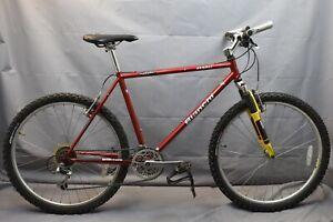 """1996 Bianchi Denali MTB Bike Large 19.5"""" Hardtail Deore XT Rock Shox USA Charity"""