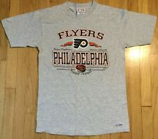Vintage 90s Philadelphia Flyers t shirt L gray NHL hockey Crable Lindros