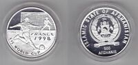 AFGHANISTAN - PROOF SILVER 500 AFGHANIES COIN 1996 YEAR KM#1027 FOOTBALL CUP 98