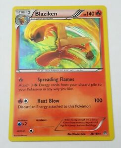 Blaziken 28/160 HOLO Rare Pokemon XY Primal Clash NM
