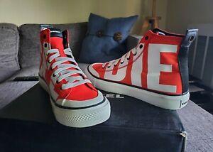Diesel Men's S-astico Mc-Sneaker Mid - Red, US 10