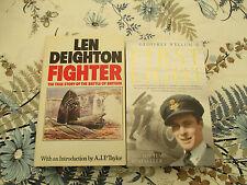 2 X WW2 AIR WAR FIRST LIGHT WELLUM AND FIGHTER BATTLE OF BRITAIN DEIGHTON