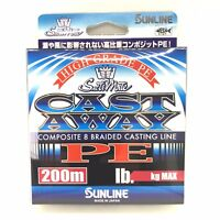 NEW SUNLINE SaltiMate CAST AWAY PE 200m High Grade Braided Line Free Shipping