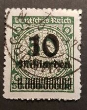 German Reich 10 Milliarden On 50 Millionen Stamp