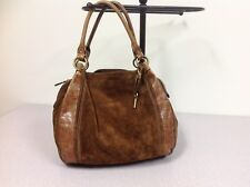 FOSSIL Hobo Slouchy Bag Purse Brown Suede Leather