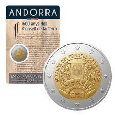 ANDORRE !! 2 euro commémo 2019 !! CONSEIL DE LA TERRE !! NEUF