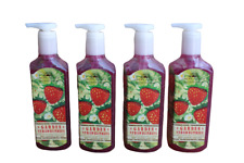 x4 Bath & Body Works Fresh Picked Garden Strawberries Deep Cleansing Hand Soap