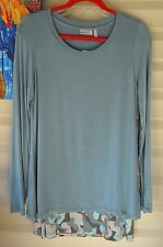 LOGO BLUE LAGOON TWIN SET WITH KNIT TOP & PRINTED TANK ~ S
