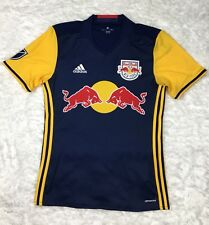Adidas New York Red Bulls MLS Replica Short Sleeve Dark Blue Jersey Sz S 7417A