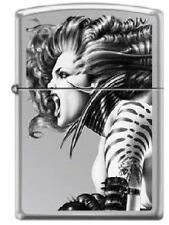 Zippo Olivia De Berardinis, Banshee II, High Polish Chrome Lighter NEW RARE