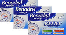 Benadryl Allergy Relief 36 capsules - Fast Effective Relief From Allergies