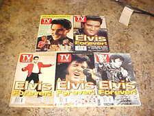 Vintage Elvis Presley TV Guides Lot of 5 Excellent Condtion FREE SHIPPING