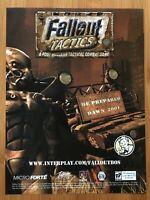 Fallout: Tactics PC 2000 Vintage Poster Ad Advert Art Print Promo PS4 Xbox Rare