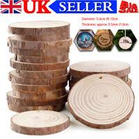 8-10cm/ 5-6cm Wood Log Slices Discs Round Pyrography Rustic DIY Crafts Wedding
