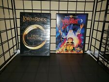 Lord of the Rings Movie Trilogy & The Hobbit Animated Rankin Bass Dvd Lot