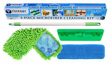 Fibermop 3 Piece Microfiber Mop Cleaning Kit, Chenille and Microfiber Pad
