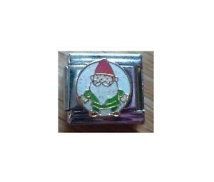 9mm Italian Charm E116 Christmas Elf  Santa's Helper Fits Classic Size Bracelet