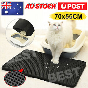 Large Double-Layer Cat Litter Mat Trapper Waterproof Pad Pet Rug Tray Kitty Home