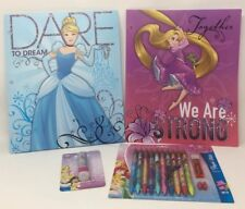 Disney Princess Pocket Folders, PaperMate Pencil And Lipstick Eraser Set