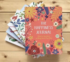 NEW HAPPINESS JOURNAL NOTEBOOK MINDFULNESS WELLBEING RELAXATION MENTAL HEALTH