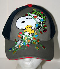 Snoopy & Woodstock Wrapped in Holiday Lights Hat Baseball Cap New Tags Kids 2014