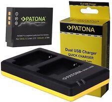 1x Patona PREMIUM Batteria en-el12 + Dual Doppio Caricabatteria per Nikon Coolpix s9900