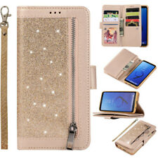 Zipper Glitter Wallet Leather Flip Case Cover For Samsung A51 A21 S21 S20 S10 S9